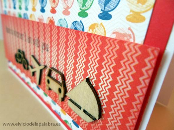 Tarjeta elaborada con figuras de madera de Studio Calico. Card made using wooden embellishments from Studio Calico.