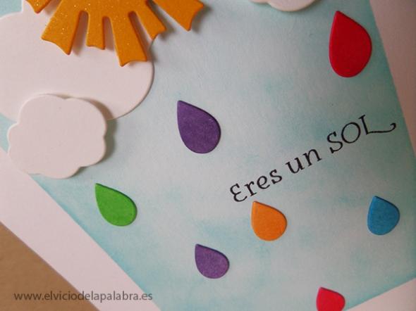 Tarjeta elaborada con sellos y troqueles de La Pareja CreativaTarjeta elaborada con sellos y troqueles de La Pareja Creativa