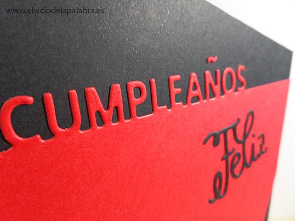 Tarjeta para cumpleaños elaborada con troqueles de La Pareja Creativa