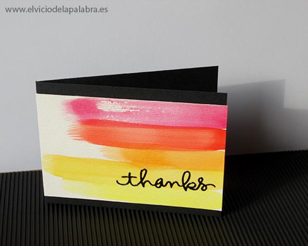 Tarjeta elaborada con acuarela. Card made using watercolor.