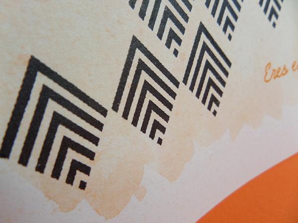 Tarjeta creativa elaborada con neocolor para el reto de junio de La Pareja Creativa