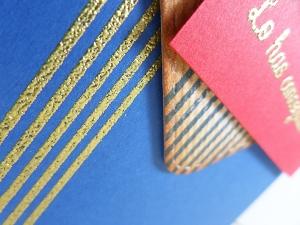 Tarjeta creativa realizada para La Pareja Creativa con el set de sellos fondos para él