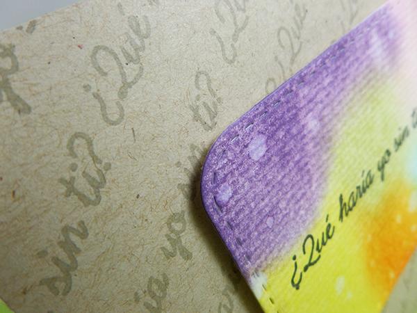 Tarjeta creativa realizada para La Pareja Creativa con Distress Inks