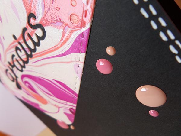 Tarjeta creativa realizada con dies de La Pareja Creativa y Enamol Dots