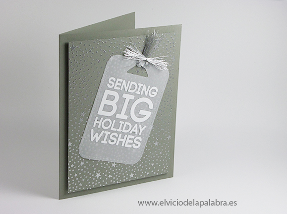 Tarjeta creativa elaborada con embossing y sello de Hero Arts para Simon Says Stamp Wednesday Challenge