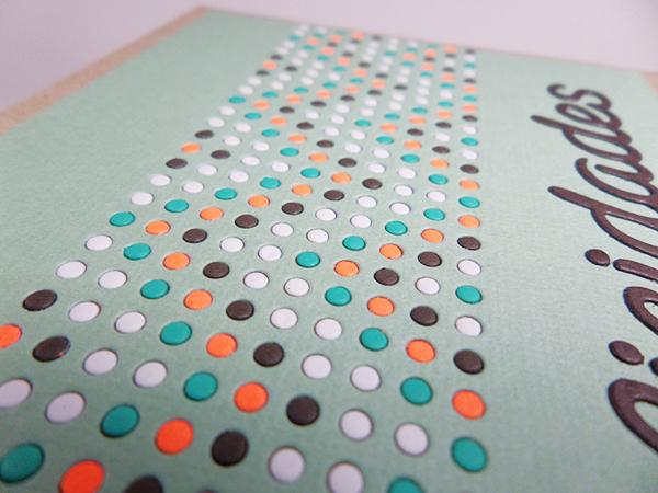 Tarjeta creativa realizada para La Pareja Creativa con el troquel Muchos puntos