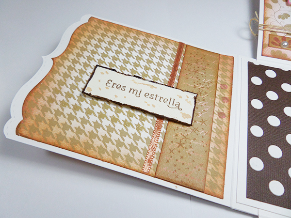 Detalle de la tarjeta creativa para el reto de febrero de La Pareja Creativa