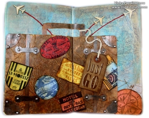 Art journal page by Vicky