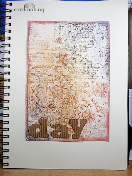 Página mixed media con textura dedicada al tiempo