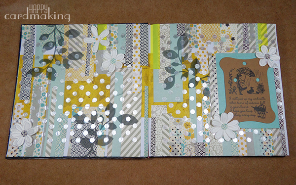 Página de art journal inspirada en Shari Carroll