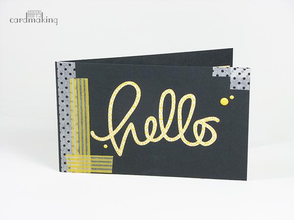 Tarjeta creativa realizada con washi tape