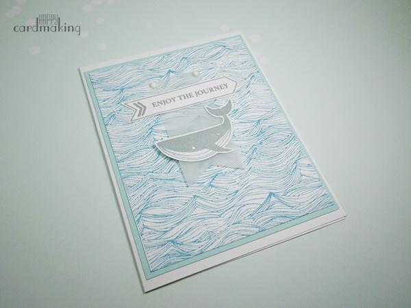 Tarjeta náutica con sellos de Hero Arts