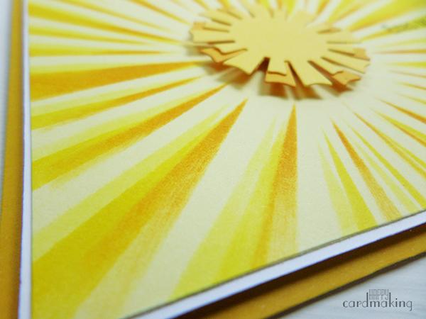 Tarjeta creativa sol con stencil de La Pareja Creativa