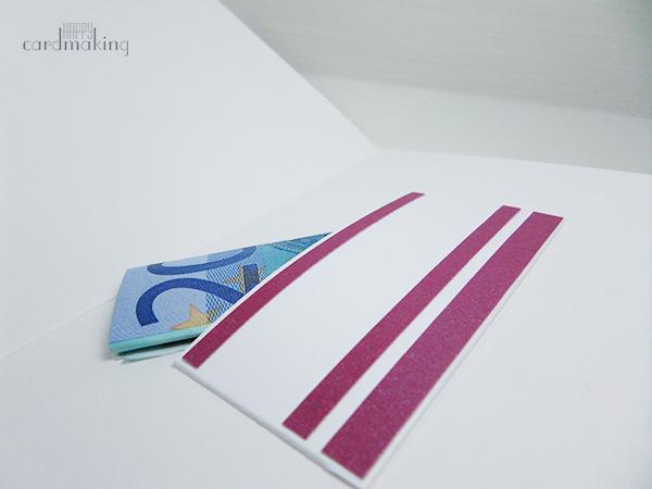 Tarjeta creativa formato regalo con cuerda