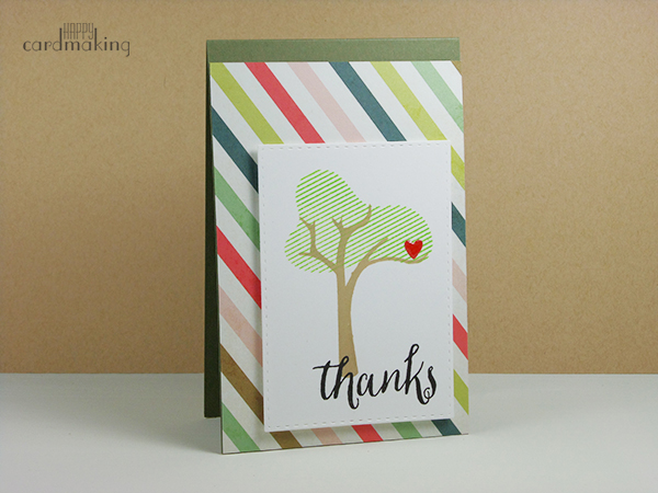 Tarjeta creativa con stamping y pattern paper