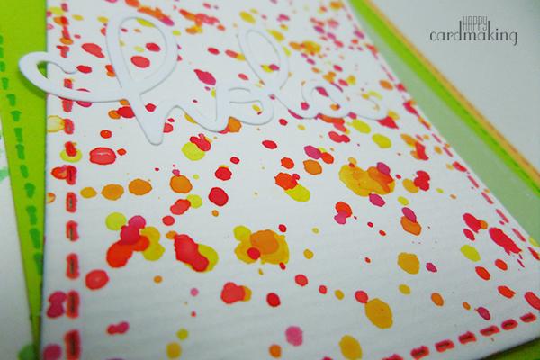 Tarjeta creativa elaborada con troqueles de La Pareja Creativa y acuarela