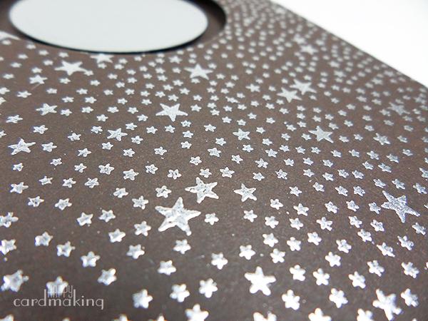 Tarjeta creativa con Tiny Stars stamp de Hero Arts y Altenew