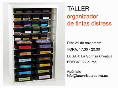 Taller para crear tu organizador de tintas distress
