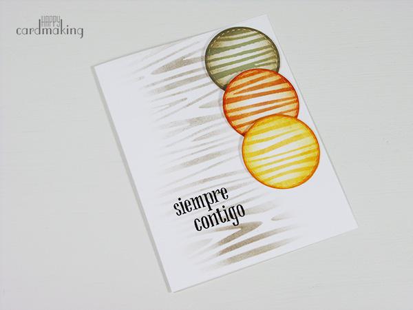 Tarjeta con stencil madera de La Pareja Creativa