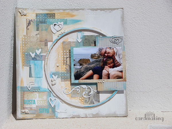 Mixed media y layout náutico como regalo para mi madre