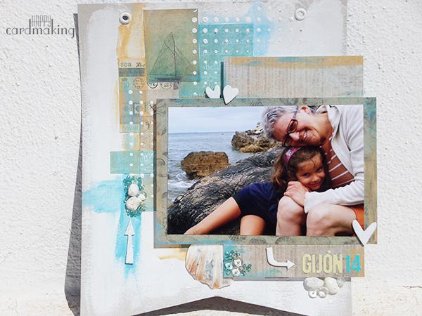 Proyecto mixed media con fotografía familiar