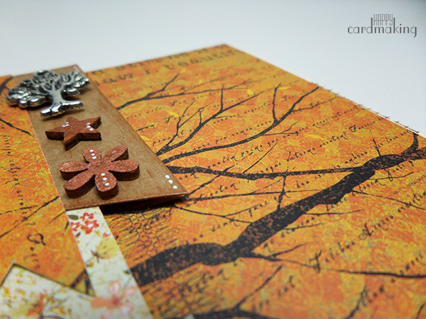 Tarjeta creativa realizada para el amigo invisible creativo de Gemma
