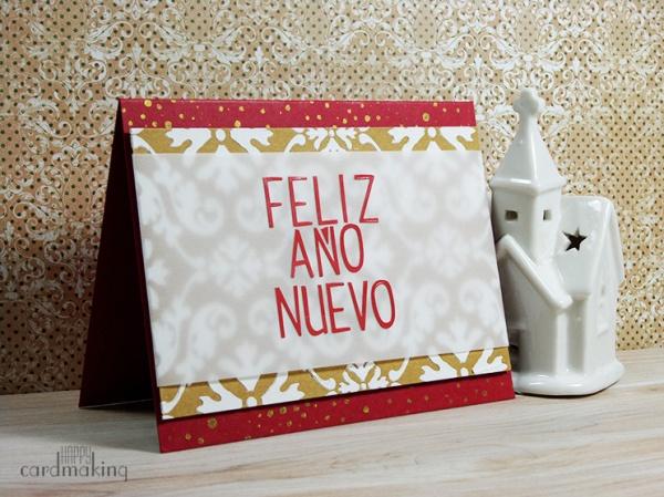Tarjeta navideña creativa para Todo Stencil