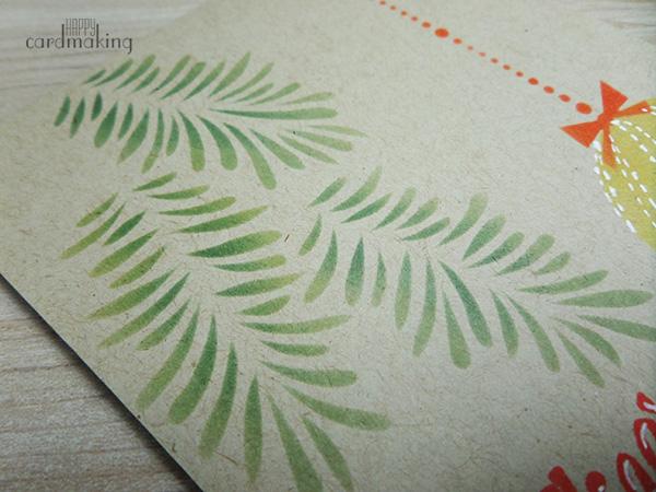 Tarjeta creativa navideña para La Pareja Creativa con stencil