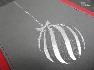 Tarjeta creativa realizada para La Pareja Creativa con stencil y embossing paste
