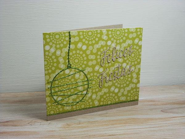 Tarjeta creativa navideña con troqueles