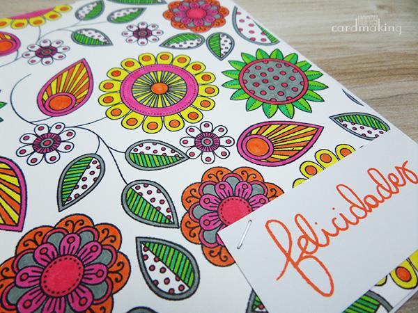 Tarjeta creativa coloreada