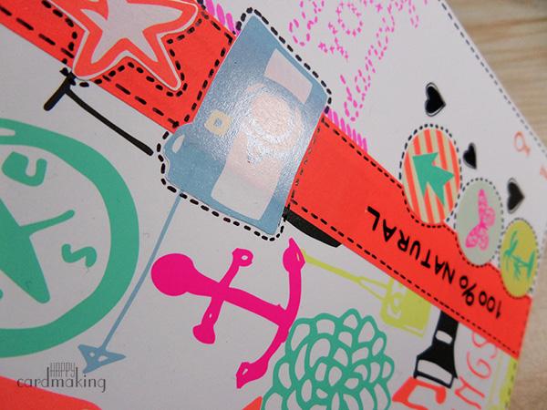 Tarjeta creativa realizada con productos de las tiendas Hema