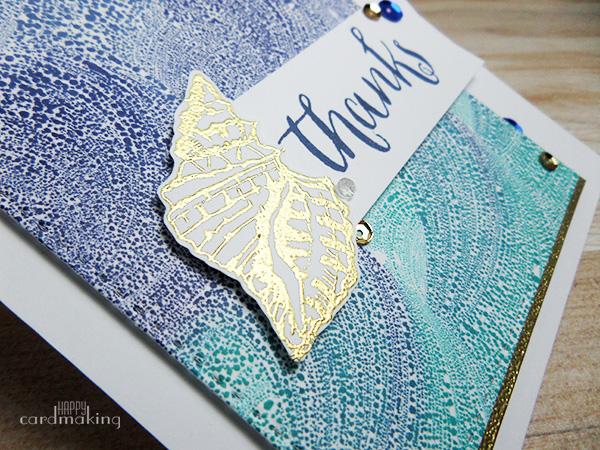 Tarjeta creativa hecha a mano con tintas Distress