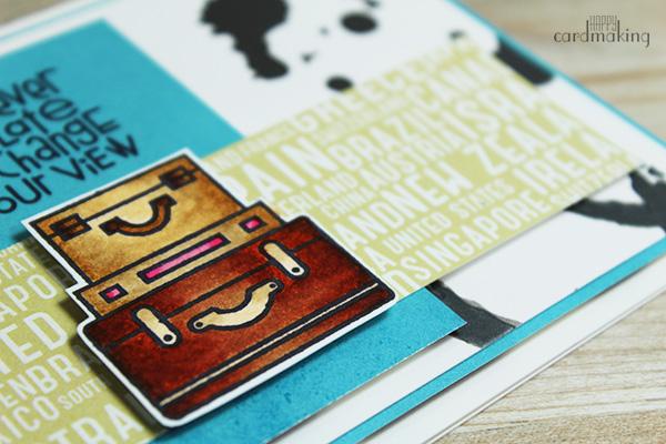 Tarjeta creativa elaborada con un panel hecho por Guardiana de Momentos