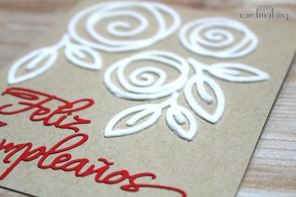 Tarjetas creativas realizadas a mano con un troquel y fieltro