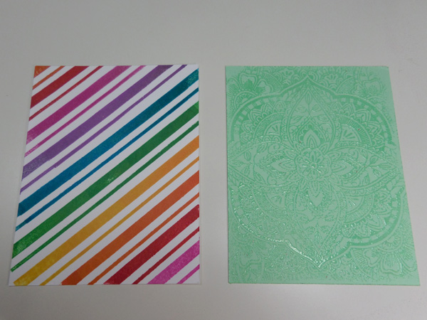 Intercambio de paneles para elaboración de tarjetas creativas