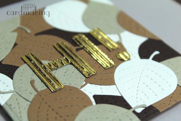 Tarjeta creativa otoñal con hojas de Lawn Fawn y papel vegetal