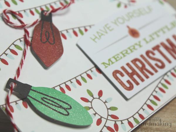 Tarjetas navideñas sencillas utilizando die cuts y fondos