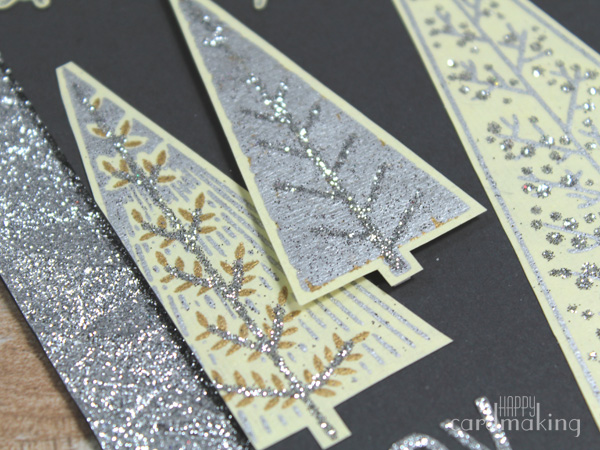 Tarjetas navideñas creativas realizadas con embossing frío con volumen