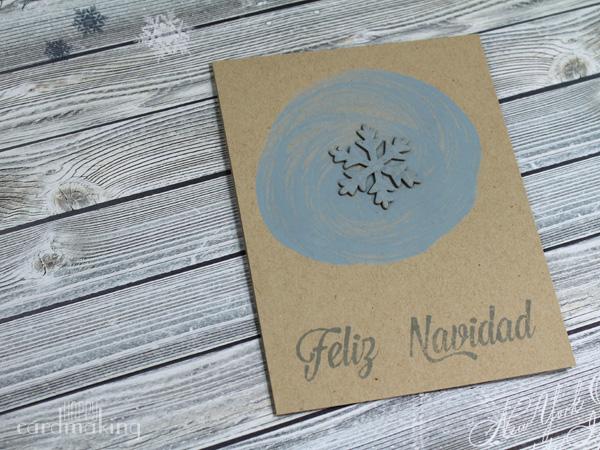Tarjetas navideñas simples que incluyen chipboard con colores atípicos