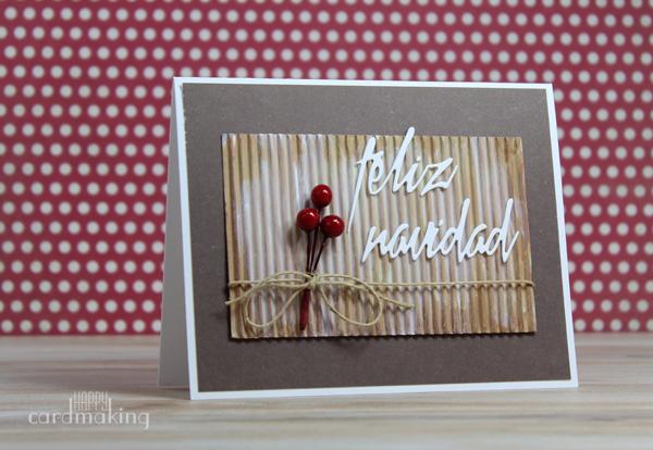 Tarjeta navideña creativa con elemento natural