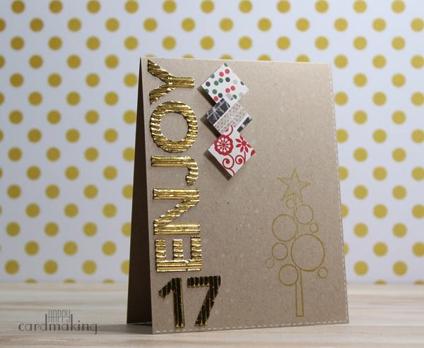 Tarjeta creativa para cerrar el especial navideño de tarjetería