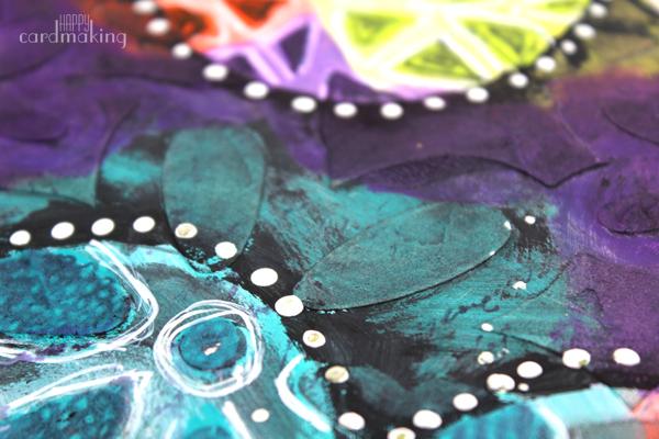 El turquesa con el morado combinan genial en el art journal